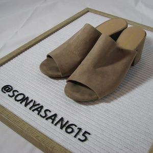 Christian Siriano for Payless Suede Mules 9 Tan